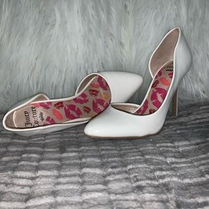 Juicy Couture white heels!